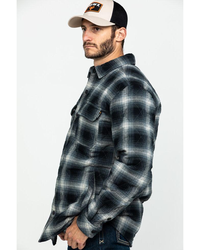 Hawx Men's Black Quilted Plaid Shirt Work Jacket , Black, hi-res