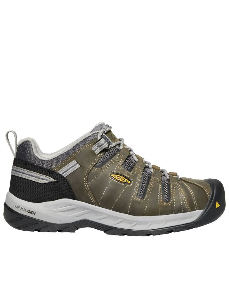 Keen Men's Flint II Work Boots - Steel Toe, Olive, hi-res