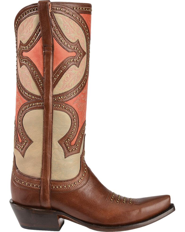 Lucchese Women's Leila Renaissance Mosaic Western Boots, Whiskey, hi-res