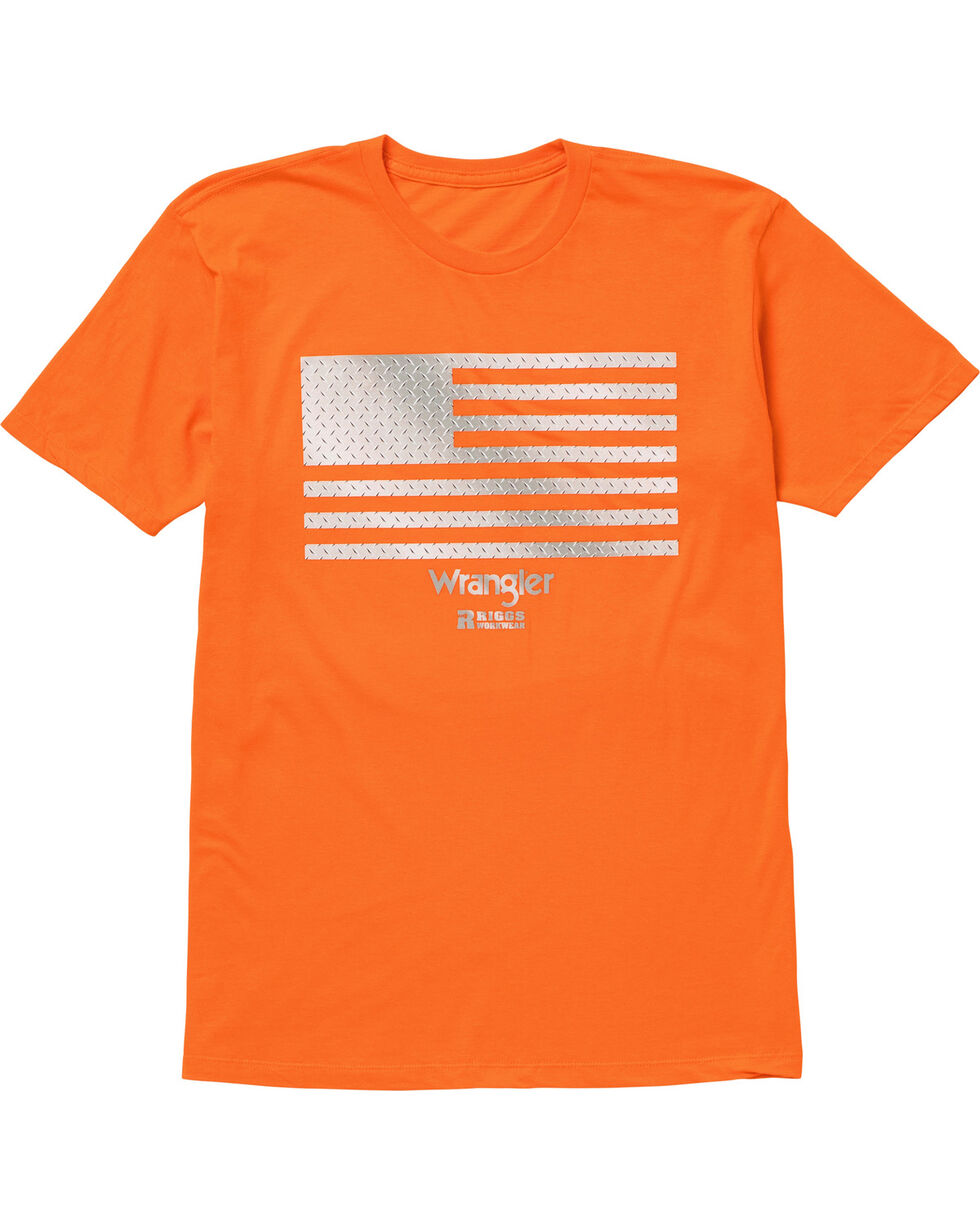 Wrangler Men's Orange RIGGS Workwear Graphic Tee , Bright Orange, hi-res