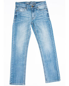 Cody James Boys 8-20 Crupper Light Stretch Slim Boot Jeans , Blue, hi-res
