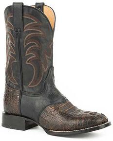 Roper Men's Samuel Western Boots - Square Toe, Brown, hi-res