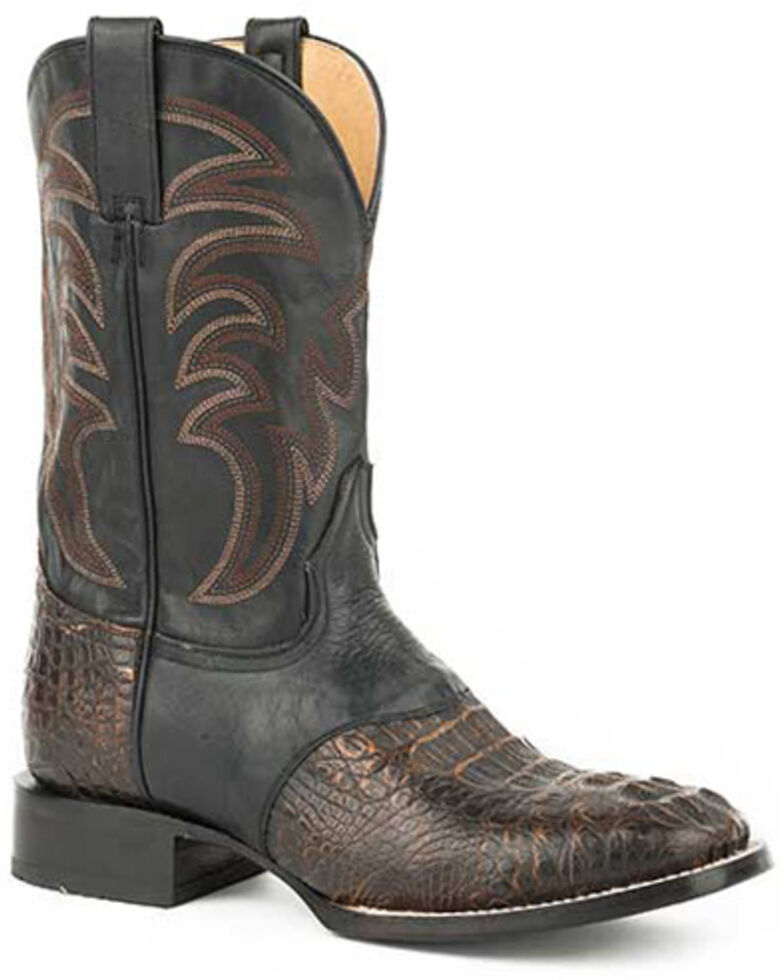 Roper Men's Samuel Western Boots - Square Toe, Brown, hi-res