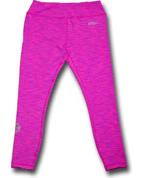 HOOey Women's Pink Space Dye Leggings , Pink, hi-res