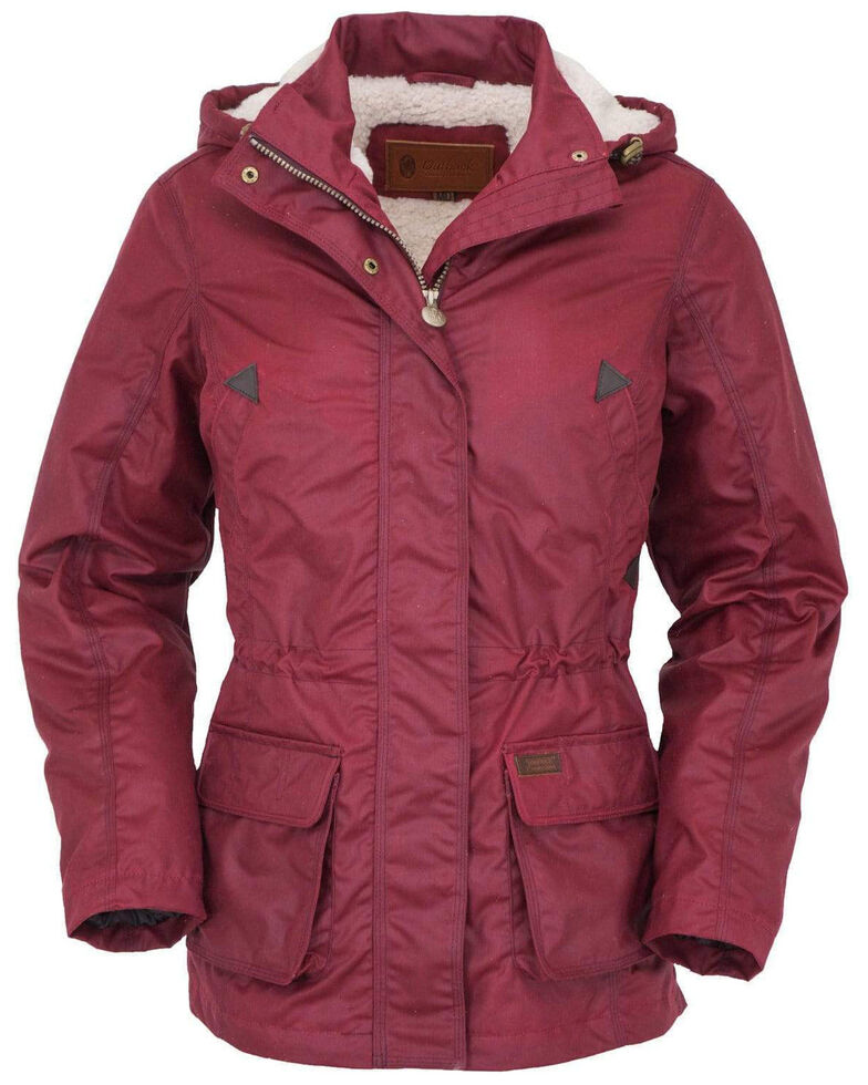 Outback Trading Co. Women's Berry Adelaide Oilskin Jacket, Red, hi-res