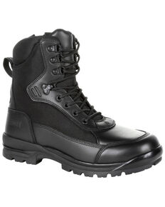 Rocky Men's X-Flex Public Serve Work Boots - Soft Toe, Black, hi-res