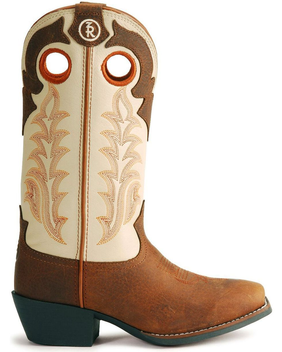 Tony Lama Children's Tiny Lama 3R Western Cowboy Boots - Square Toe, Rojo, hi-res