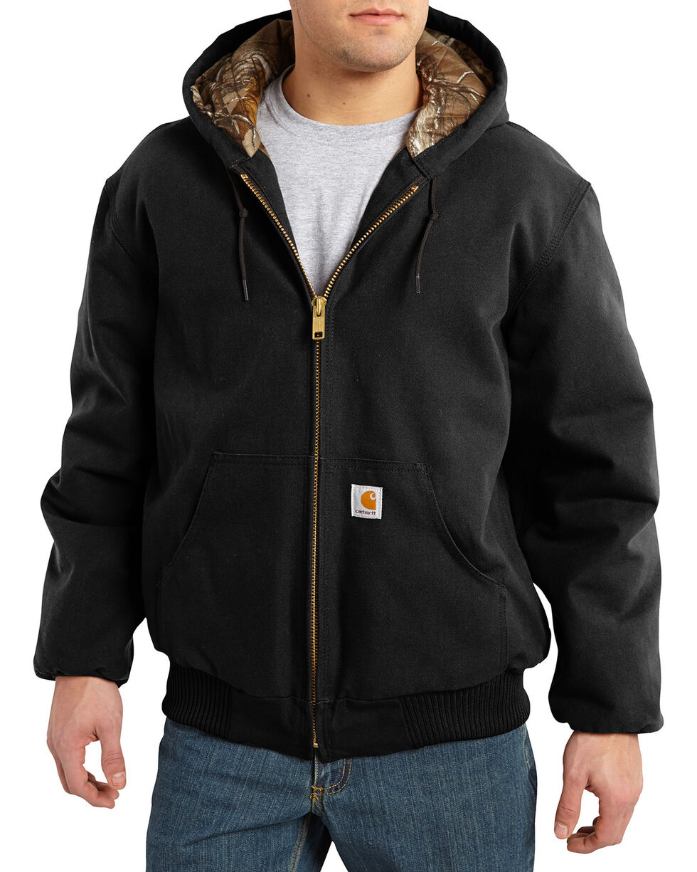 Carhartt Men's Black Huntsman Active Jacket, Black, hi-res
