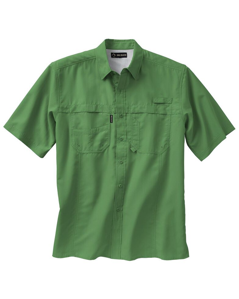 Dri Duck Men's Catch Short Sleeve Work Shirt - Big & Tall , Green, hi-res