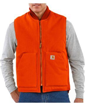 Carhartt Arctic Quilted Canvas Duck Vest, Orange, hi-res