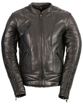 Milwaukee Leather Women's Concealed Carry Embroidered Phoenix Jacket - 3X, Black, hi-res