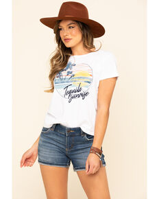 White Crow Women's Tequila Sunrise Graphic Tee, White, hi-res