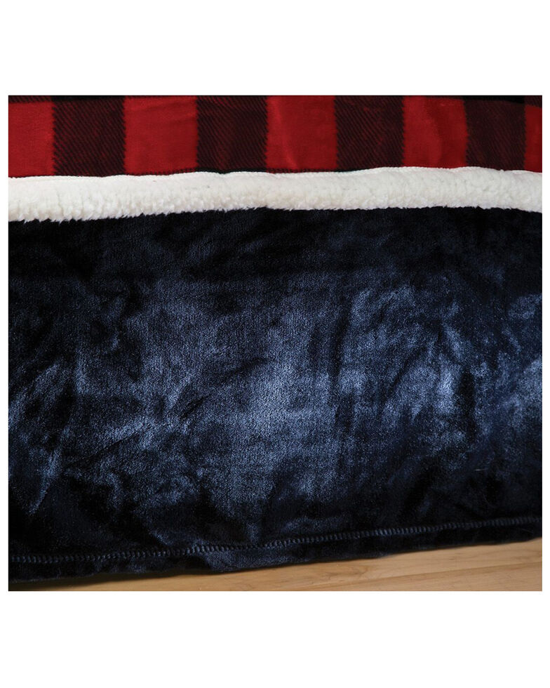 Carstens Home Solid Black Plush Velvet Bed Skirt - King, Black, hi-res