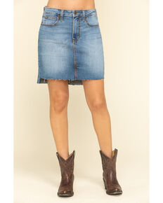 Wrangler Retro Women's Light Wash Hailey Skirt, Blue, hi-res