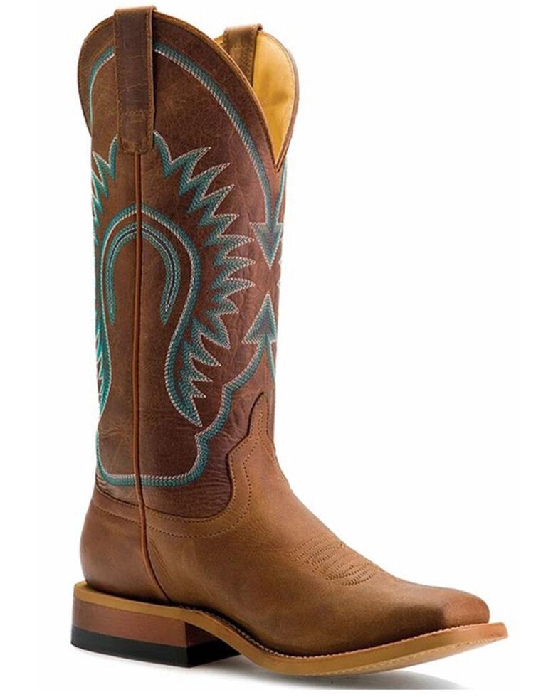 Macie Bean Women's A Perfect Tan Western Boots - Square Toe, Brown, hi-res