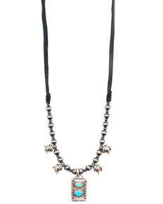 Double D Ranchwear Women's Change of Direction Necklace, Turquoise, hi-res