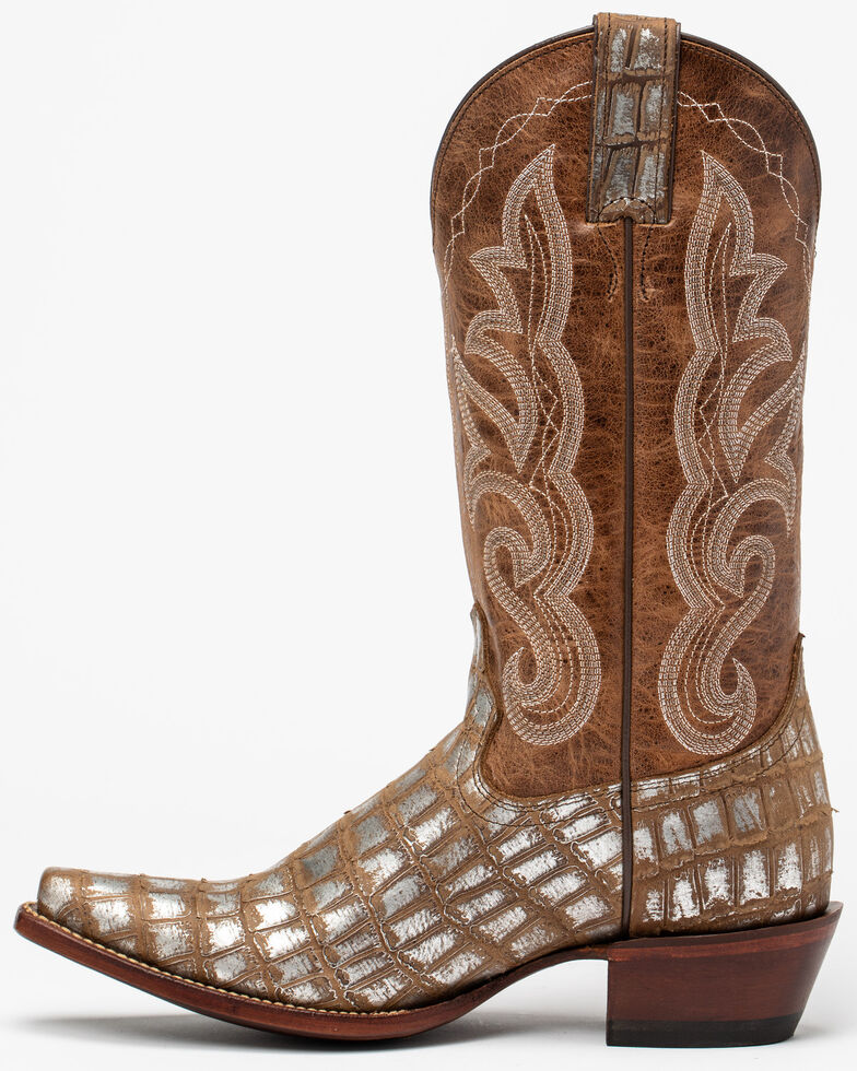 Shyanne Women's Tan Embroidery Western Boots - Snip Toe, Tan, hi-res