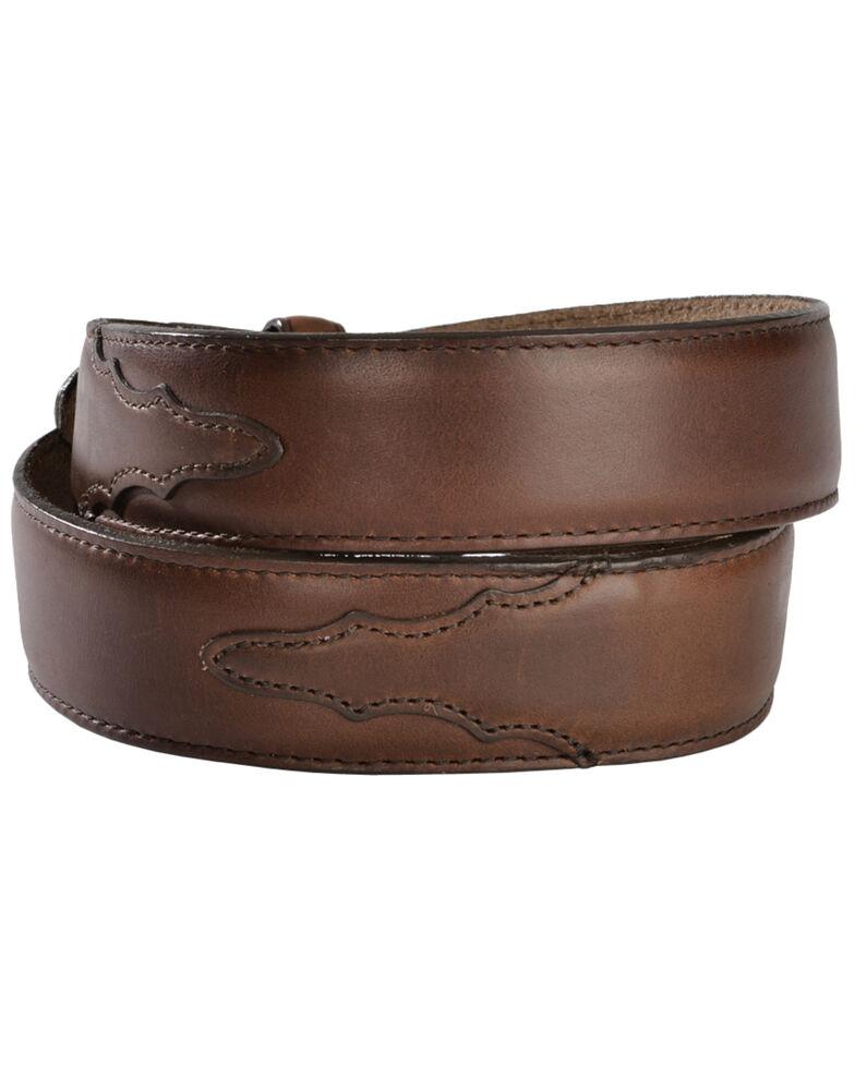 Justin Men's Classics Oiled Brown Western Belt, Brown, hi-res
