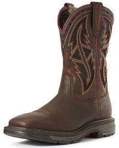 Ariat Men's Workhog XT VentTEK Western Work Boots - Wide Square Toe, Chocolate, hi-res