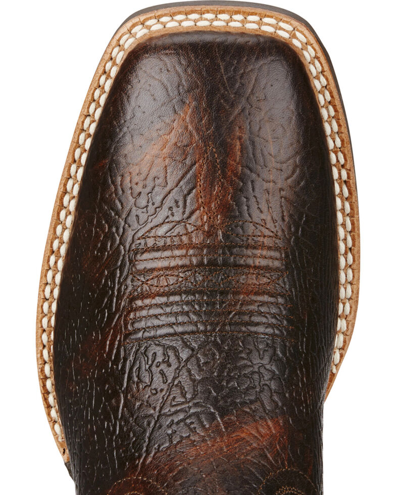 Ariat Men's VentTEK Quickdraw Square Toe Western Work Boots, Brown, hi-res
