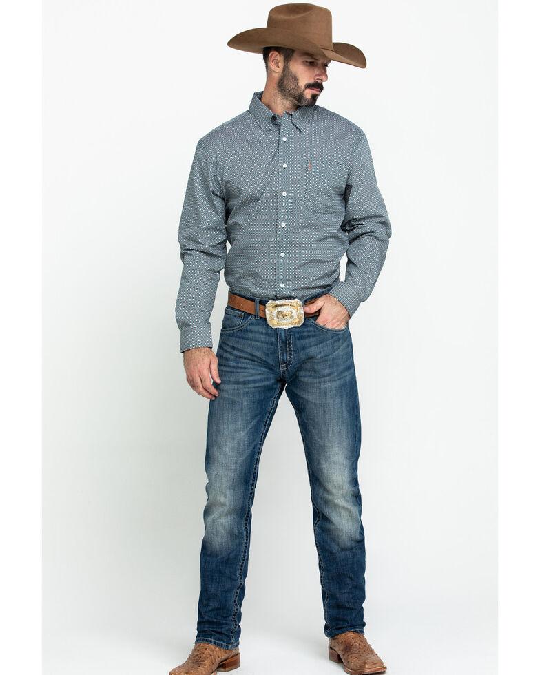Cinch Men's Modern Fit Multi Geo Print Long Sleeve Western Shirt , Multi, hi-res