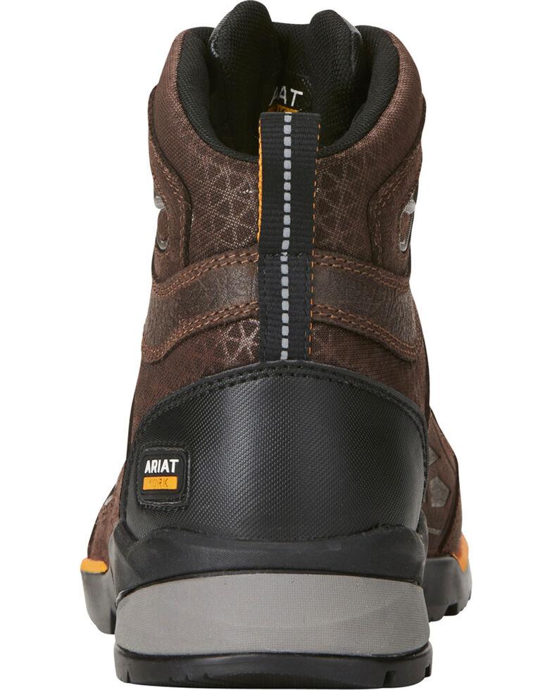 "Ariat Men's Rebar 6"" Flex Brown Work Boots - Composite Toe, Chocolate, hi-res"