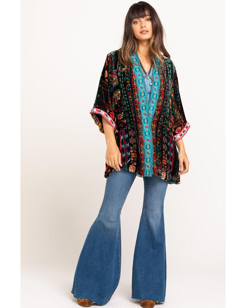 Johnny Was Women's Abril Velvet Reversible Kimono, Multi, hi-res