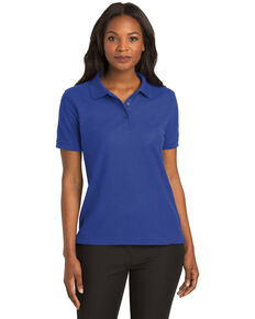 Port Authority Women's Royal Blue Silk Touch Polo, Royal Blue, hi-res