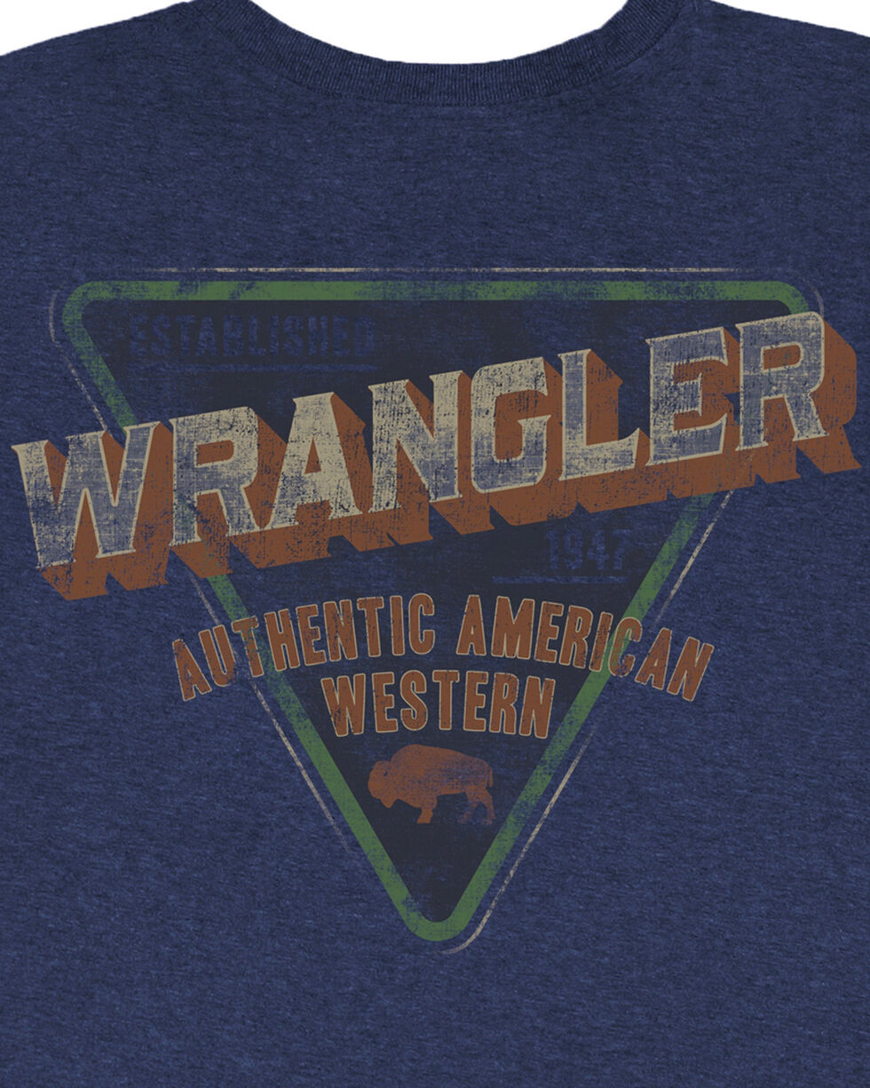 Wrangler Men's Navy Authentic American Western Tee , Navy, hi-res