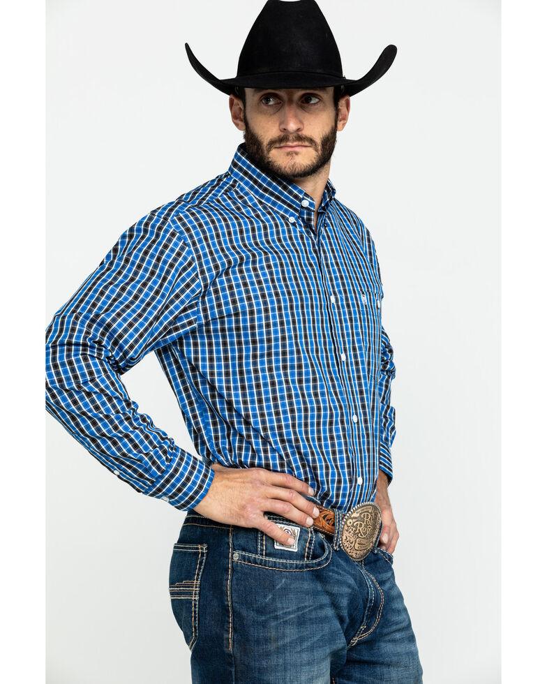 Wrangler Men's Classic Multi Check Plaid Long Sleeve Western Shirt , Black, hi-res