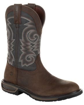 Durango Men's WorkHorse Western Work Boots - Round Toe, Chocolate, hi-res