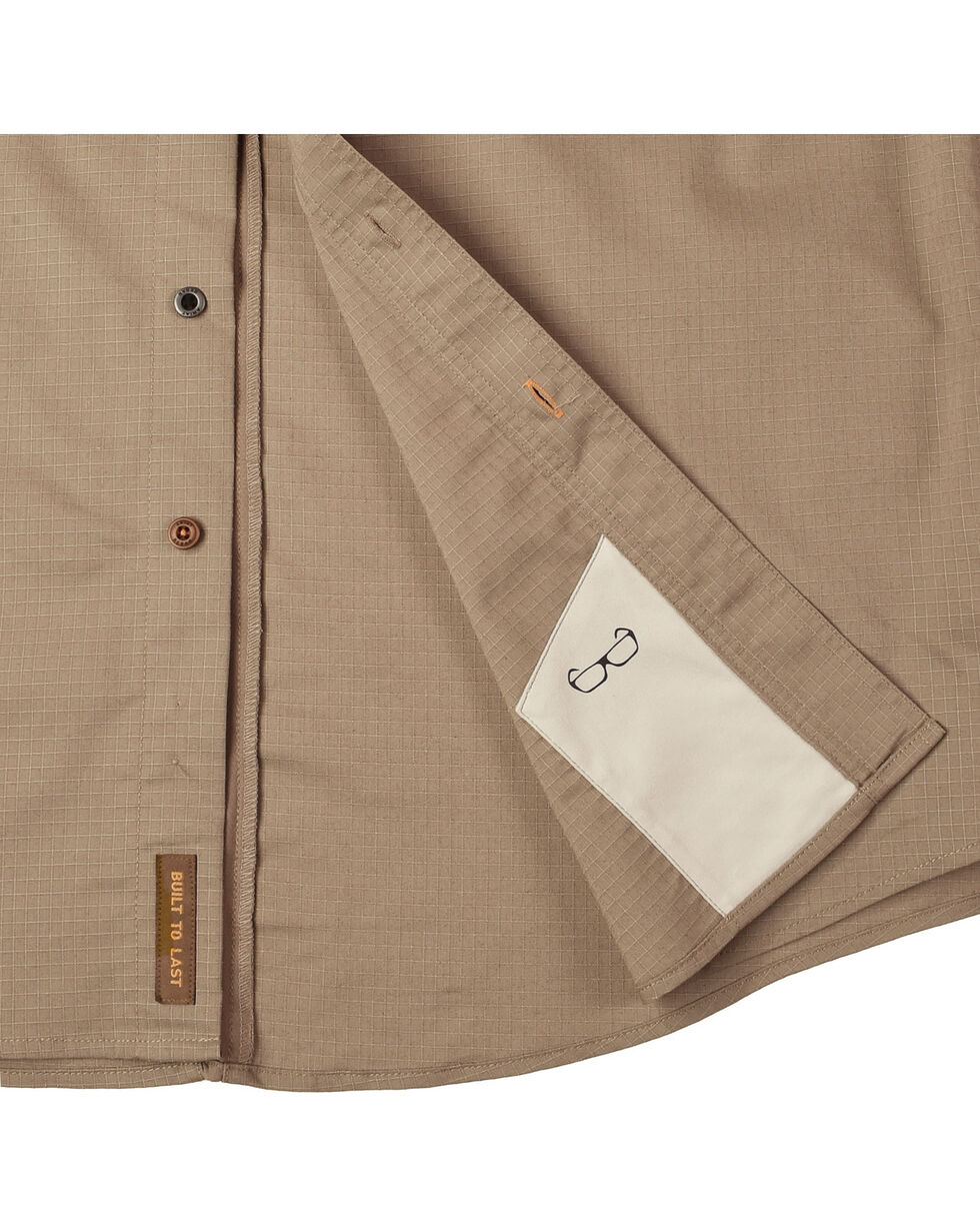 Ariat Men's Rebar Ripstop Work Shirt, Brown, hi-res