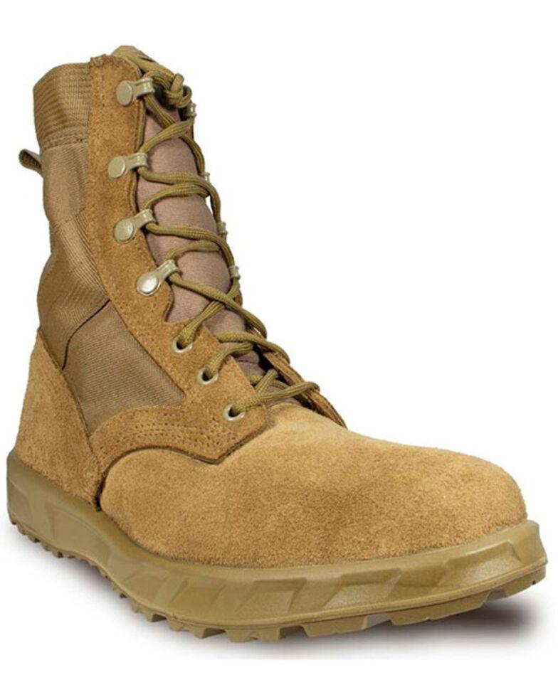 McRae Men's T2 Ultra Light Extended Comfort Combat Boots - Soft Toe, Camel, hi-res