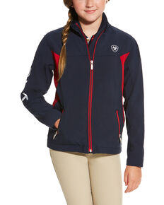 Ariat Girls' Navy New Team Softshell , Navy, hi-res