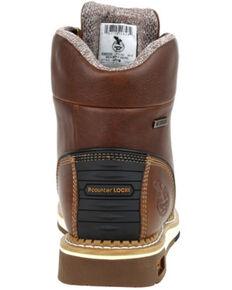 Georgia Boot Men's AMP LT Waterproof Work Boots - Steel Toe, Brown, hi-res