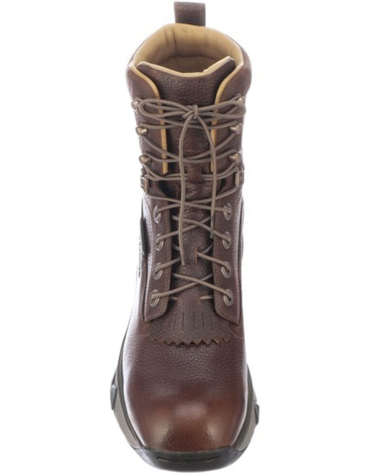 Lucchese Men's Bison Lace-Up Work Boots - Composite Toe, Pecan, hi-res