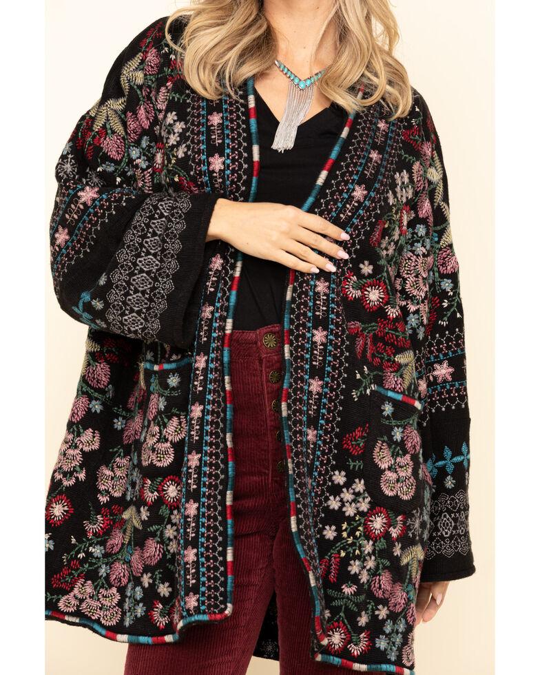 Johnny Was Women's Black Aya Kimono, Black, hi-res