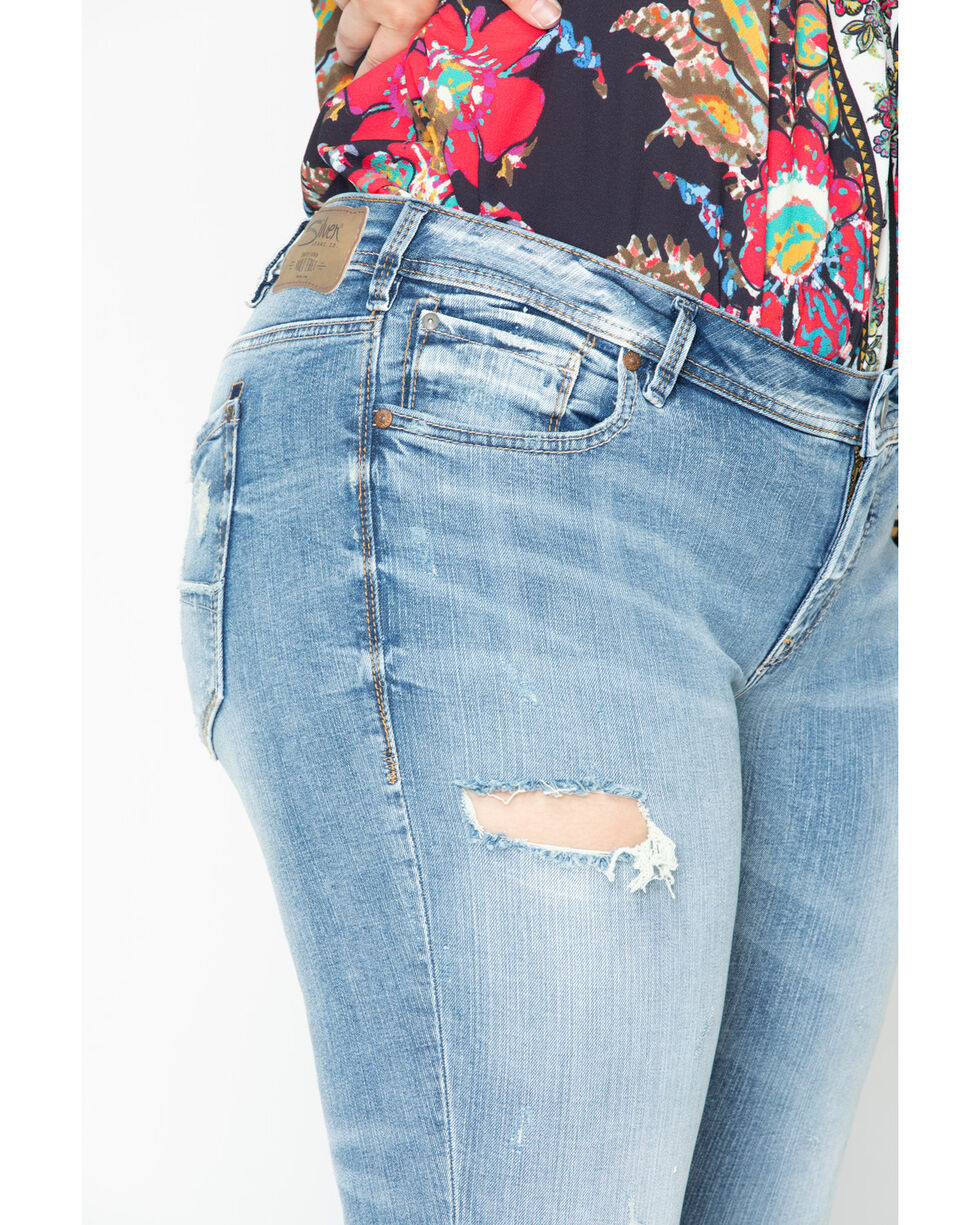 Silver Jeans Women's Kenni Boyfriend Jeans - Plus, Indigo, hi-res