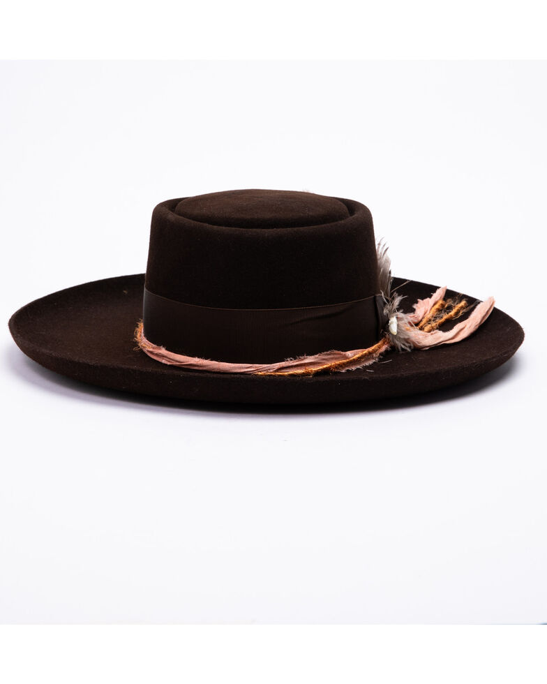 Stetson Women's Chocolate Kings Row Fur Felt Hat , Chocolate, hi-res