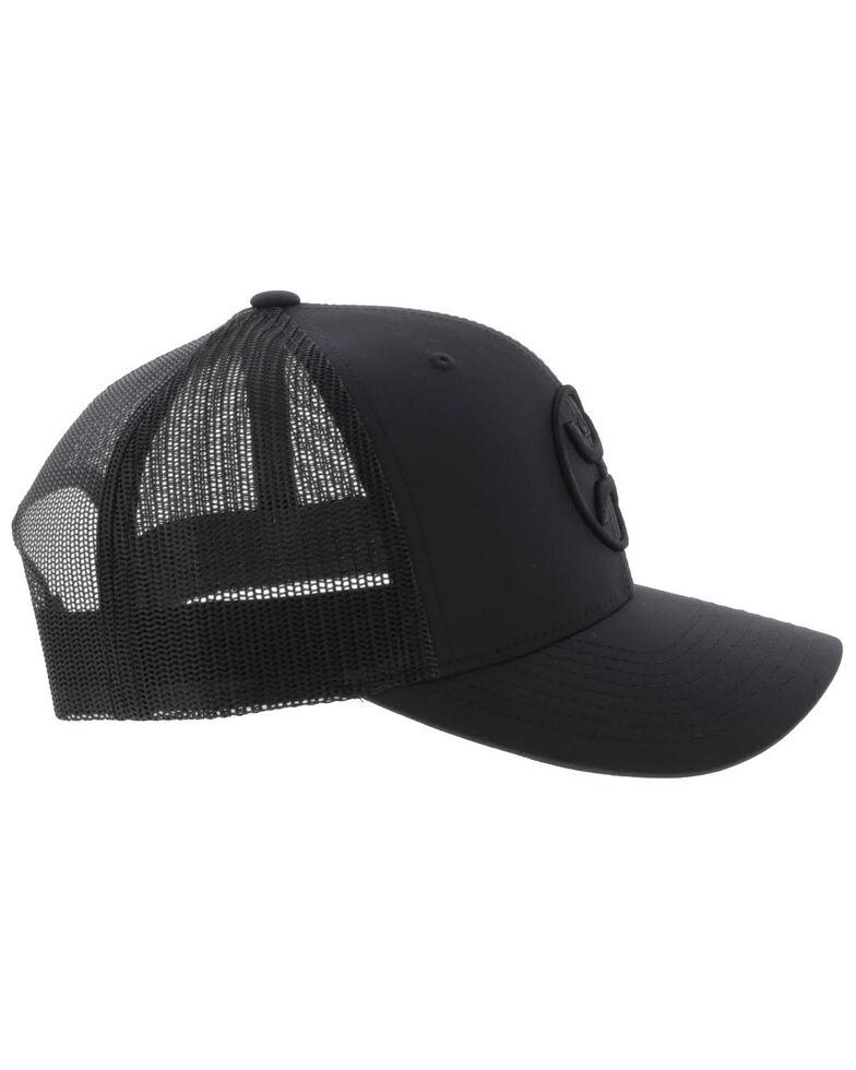 HOOey Men's Black On Black O Classic Mesh Ball Cap , Black, hi-res