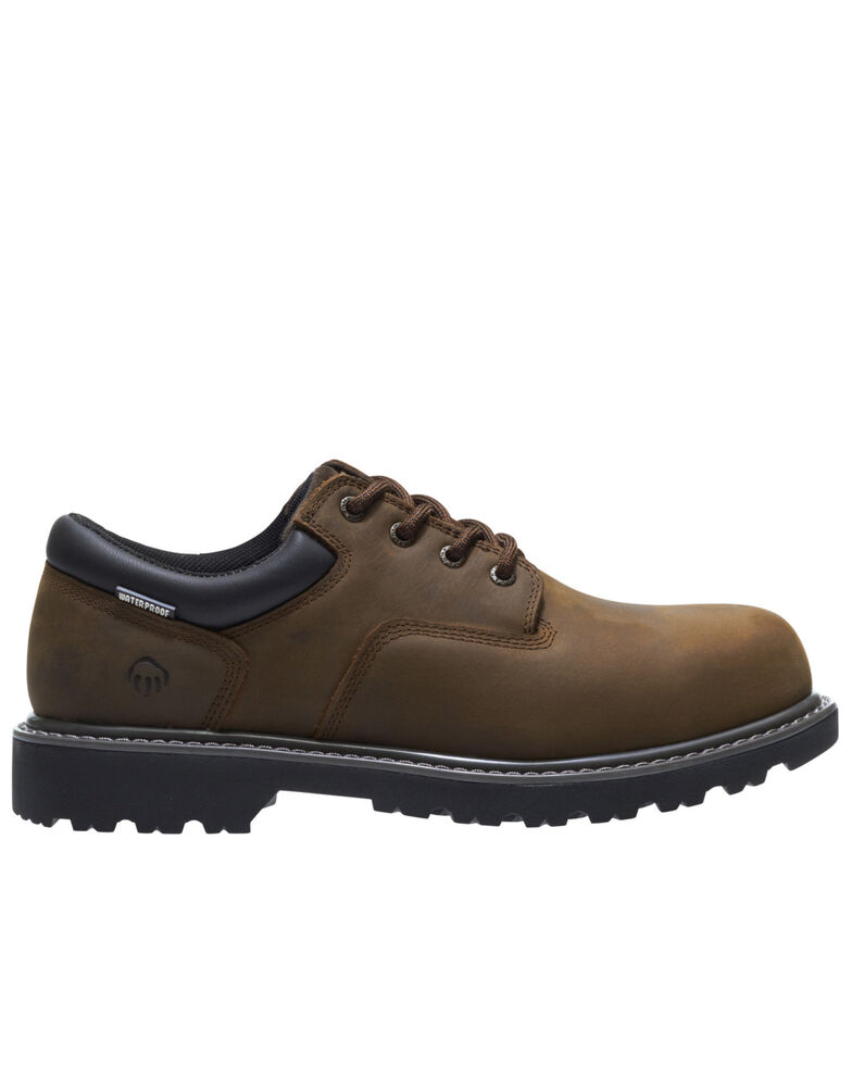 Wolverine Men's Brown Floorhand Waterproof Lace-Up Work Boots - Steel Toe, Brown, hi-res