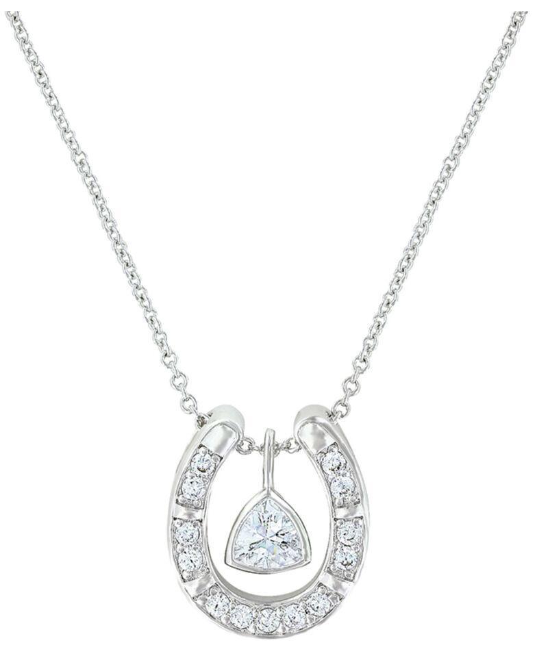 Montana Silversmiths Women's Treasured Trillion Necklace, Silver, hi-res