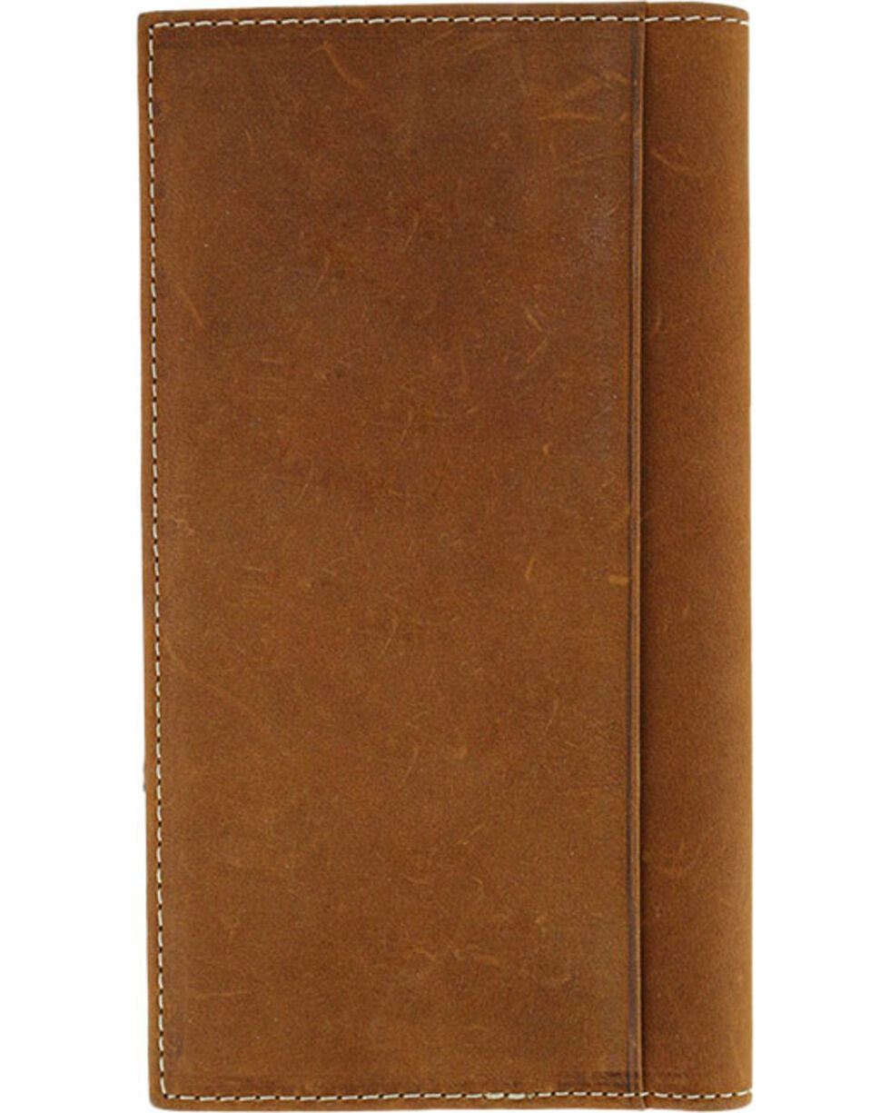 Cody James® Men's Tooled Cross Checkbook Cover/Wallet, Brown, hi-res