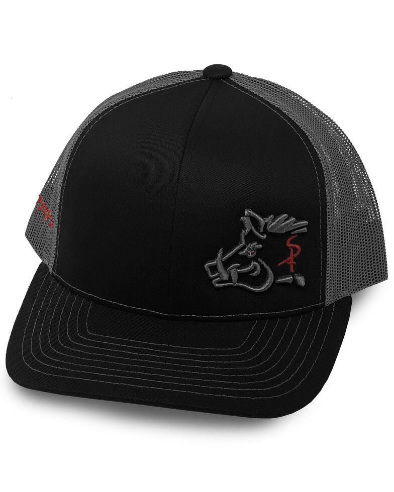 Oil Field Hats Men's Black Diesel Pig Patch Mesh Ball Cap , Black, hi-res