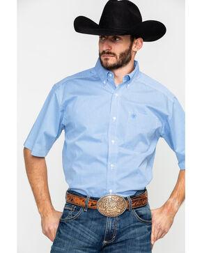 Ariat Men's Edlin Stretch Print Short Sleeve Western Shirt , White, hi-res