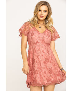 d00786ade496a Black Swan Women s Blush V-Neck Lace Dress
