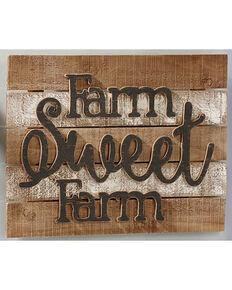 Giftcraft Tan Farm Design Wall Plaque , Tan, hi-res