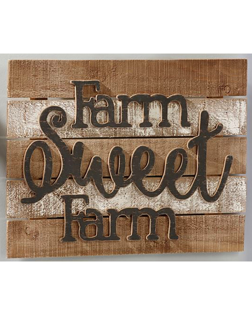 Giftcraft Tan Farm Design Wall Plaque , Tan, hi-res