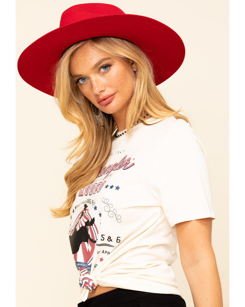 Wrangler Women's White Rodeo Best in The West Graphic Tee, White, hi-res