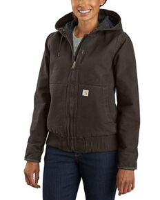 Carhartt Women's Dark Brown Washed Duck Active Jacket, Dark Brown, hi-res